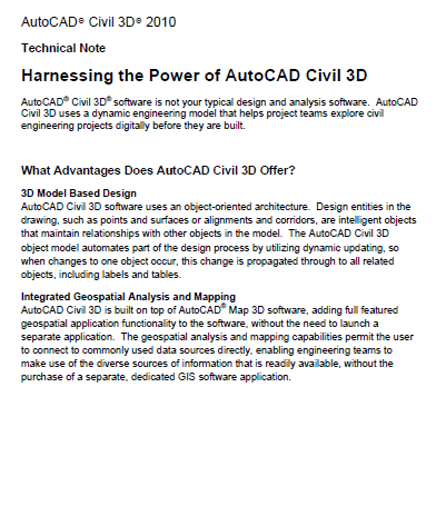 Harnessing the Power of AutoCAD Civil 3D